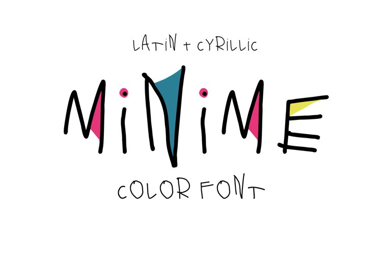 Minime color font example image 1