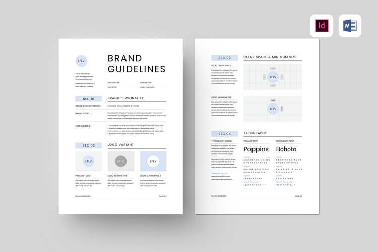 Brand Guidelines | MS Word & Indesign