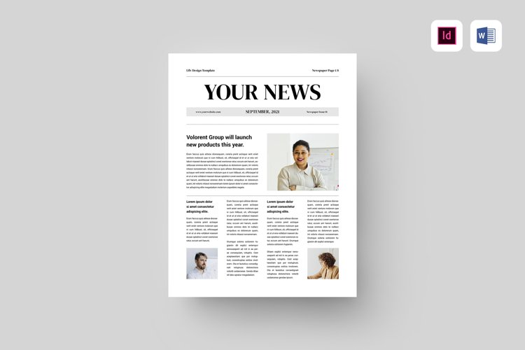 Newspaper | MS Word & Indesign