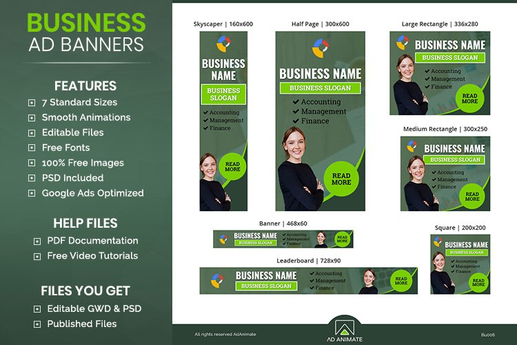 Business Banner - Html5 Animated Ad Template