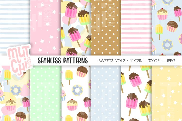 Sweets Vol2 Seamless Patterns