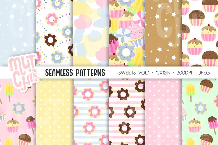 Sweets Vol1 Seamless Patterns