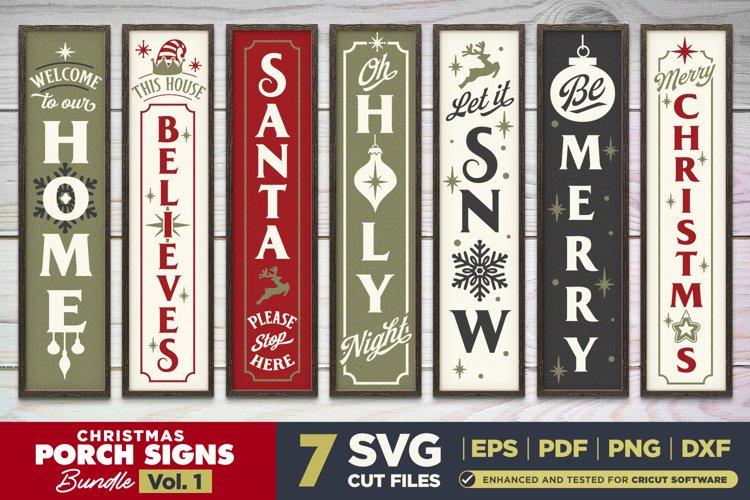 Christmas Porch Signs SVG Bundle Vol.1   7 Vertical Signs