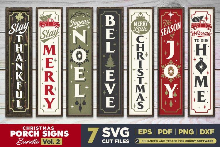 Christmas Porch Signs SVG BUNDLE Vol.2   7 Vertical Signs