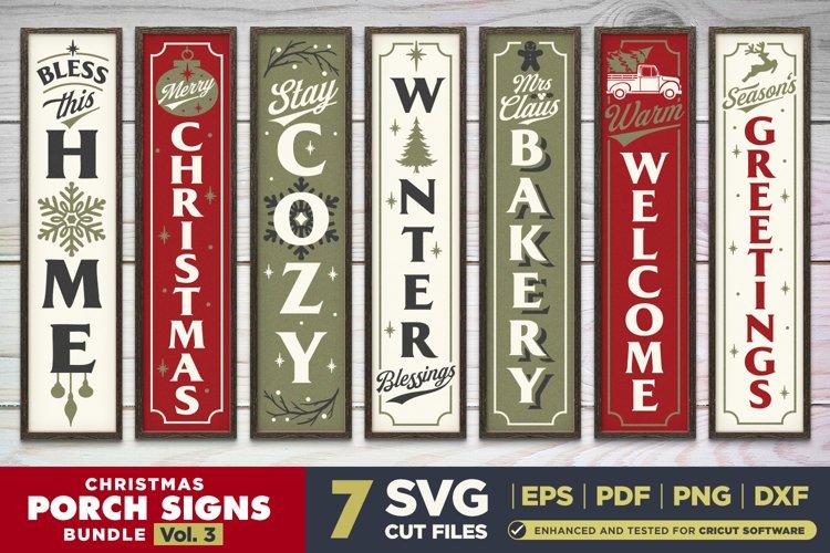 Christmas Porch Signs SVG BUNDLE Vol.3   7 Vertical Signs