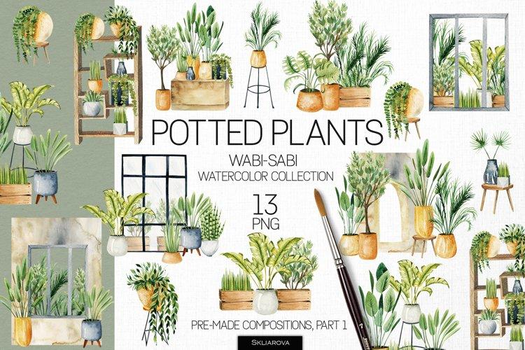 Potted plants, Part 1. Interior clipart.
