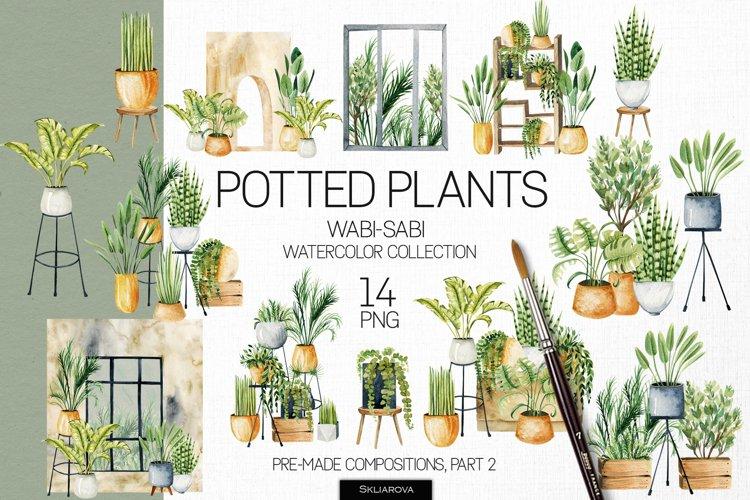 Potted plants, Part 2. Interior clipart.