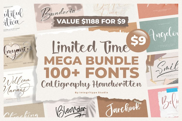 Spectacular All Collection Mega Font Bundle Handwritten example image 1