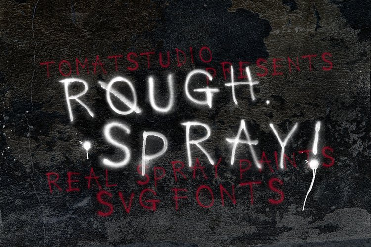 Rough Spray SVG typeface example image 1