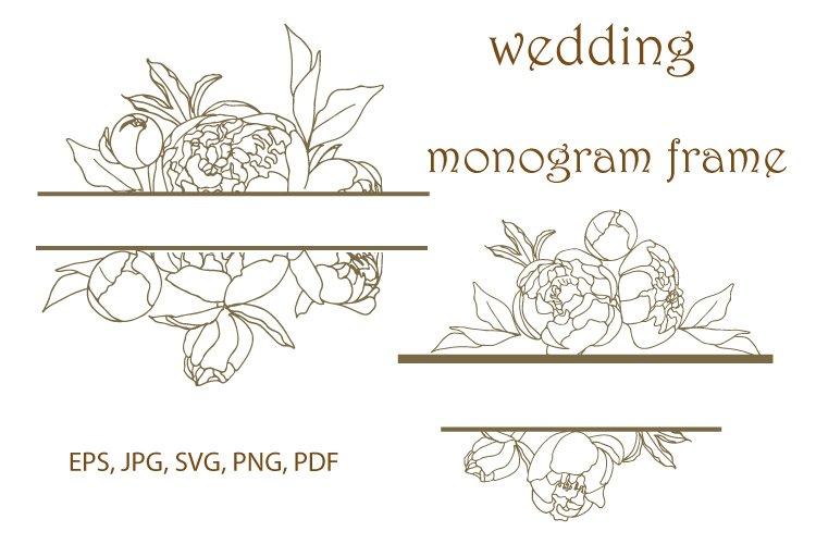 Monogram frames bundle SVG ,Monogram Svg, Peony SVG