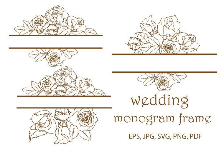 Monogram frames bundle SVG ,Monogram Svg, Rose cut file