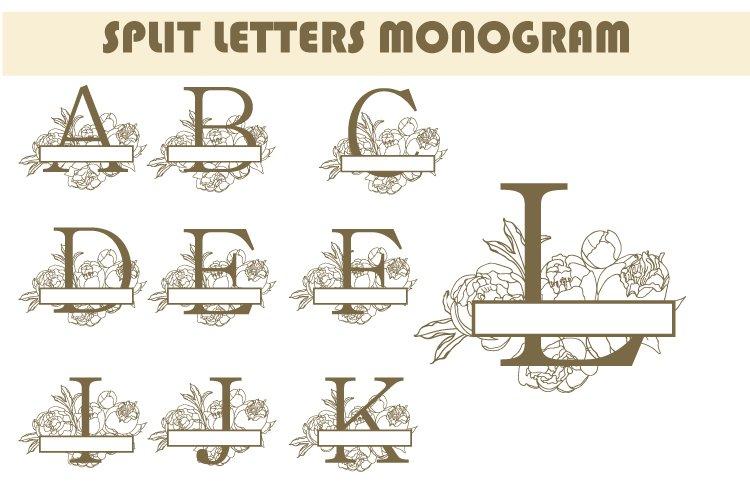 Monogram letters bundle SVG. Vector. A to Z Letter Logos