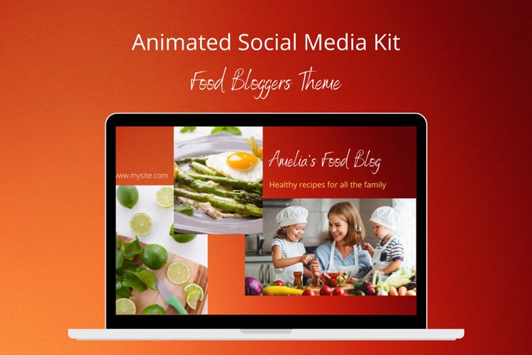 Animated Social Media Kit Canva Templates for Food Bloggers