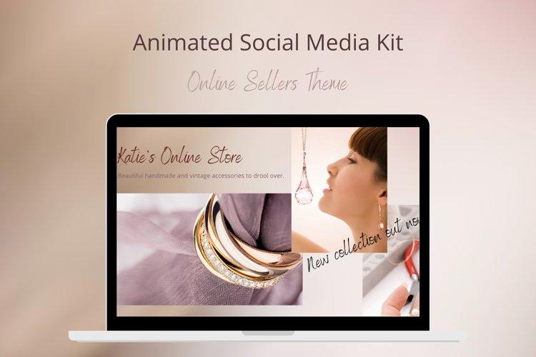 Animated Social Media Kit Canva Templates Sellers Theme example image 1