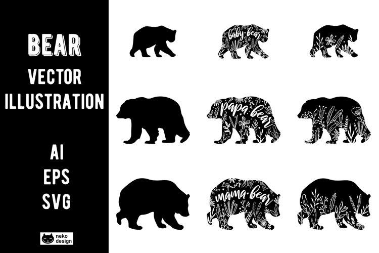 Bear Vector Illustration Clipart SVG