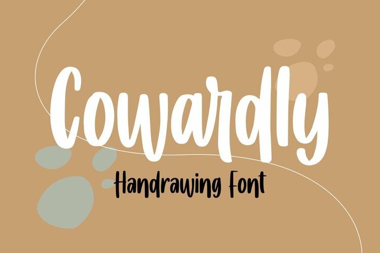 Web Font Cowardly - Handrawing Font example image 1