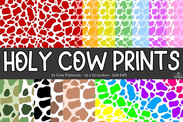 Cow Print Digital Papers