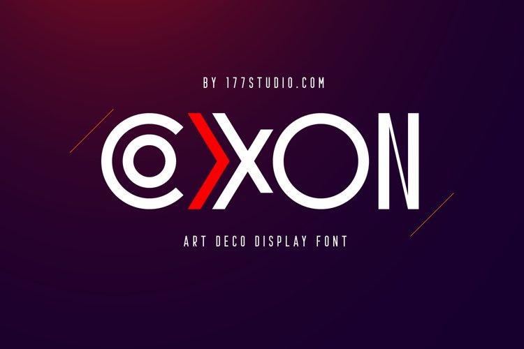 COXXON Art Deco Font