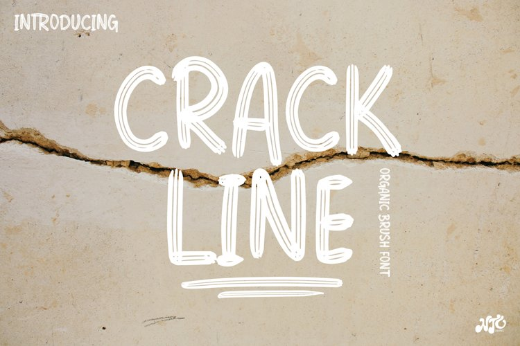 CRACKLINE - Brush Font example image 1