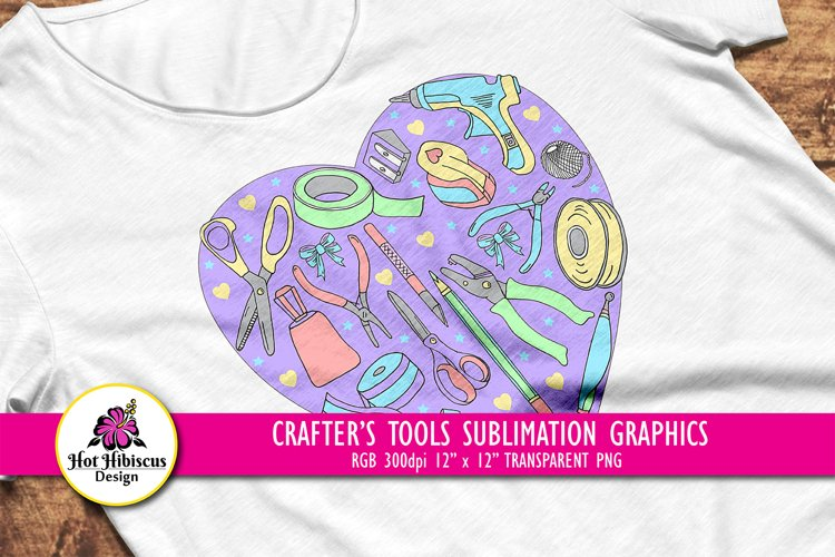 Crafters Sublimation Design, Crafting Addict Sublimation