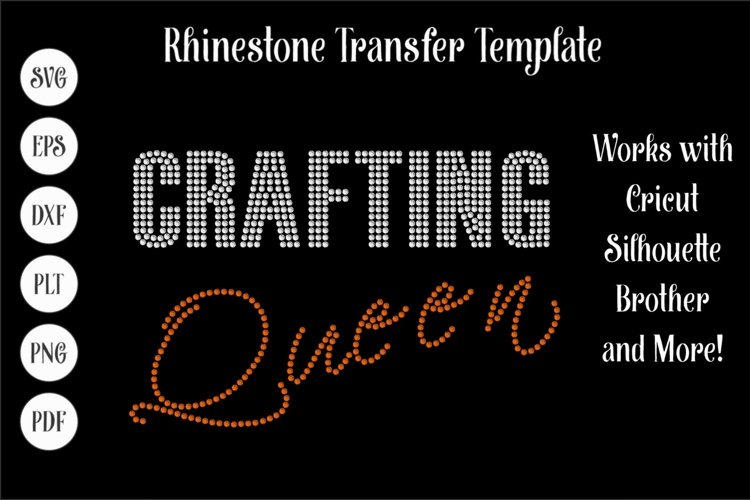 Crafting Queen Rhinestone SVG Template example image 1