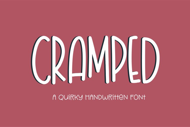 Cramped - a quirky handwritten font example image 1