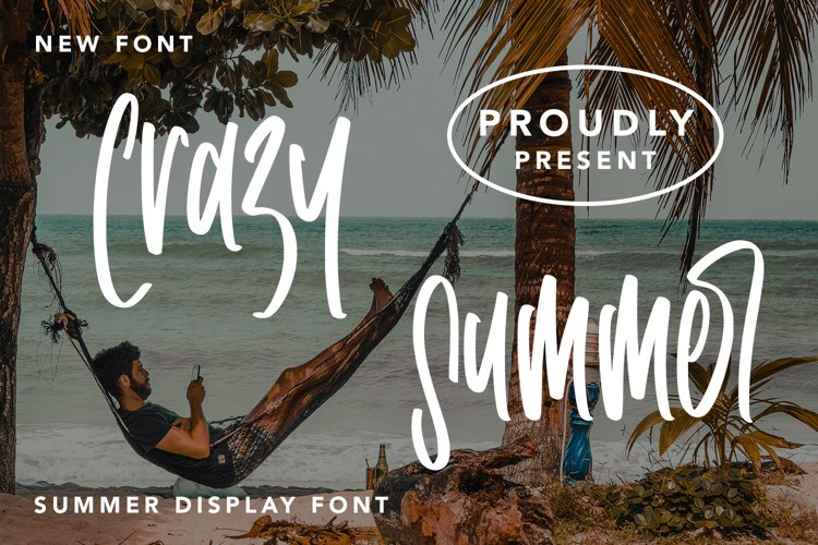 Crazy Summer - Summer Display Font example image 1