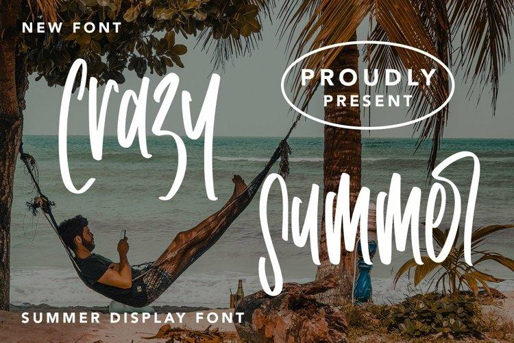 Web Font Crazy Summer - Summer Display Font