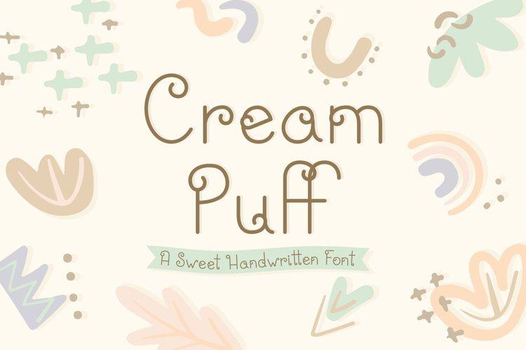 Cream Puff | Fun Sweet Lettering | Multilingual & Ligatures example image 1