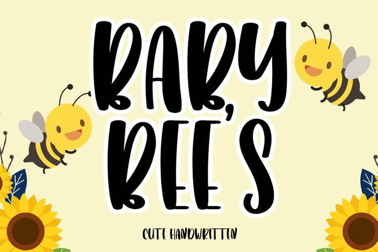 Baby Bees | A Cute Handwritten example image 1