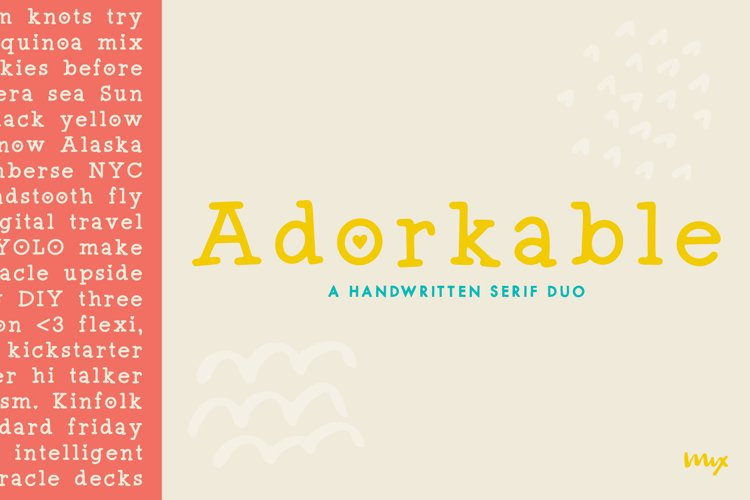 Adorkable - A Simply Adorkable Handwritten Font example image 1