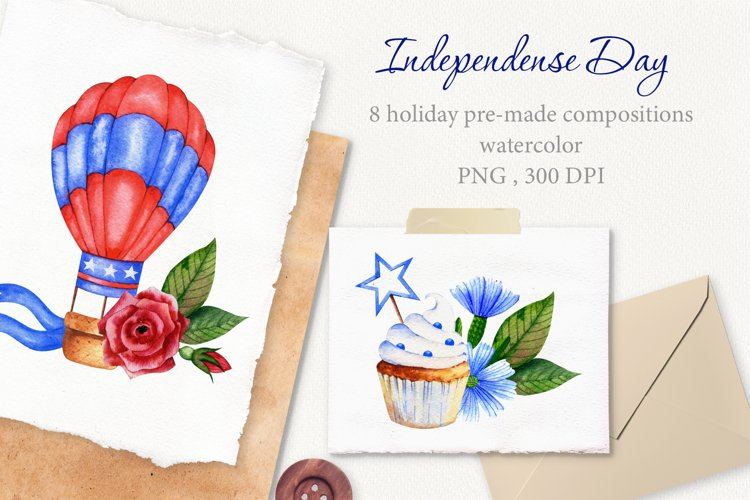 Independence Day floral compositions