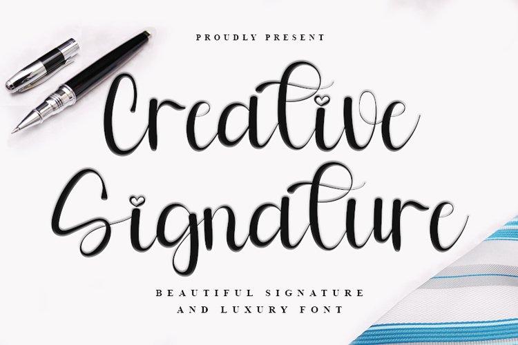 Creative Signature - Beautiful Signature Font example image 1