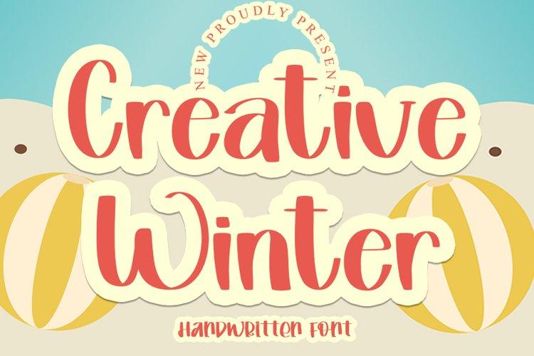 Creative Winter - A Handwritten Font example image 1