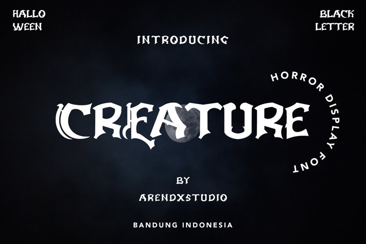 Creature - Horror Display Font example image 1