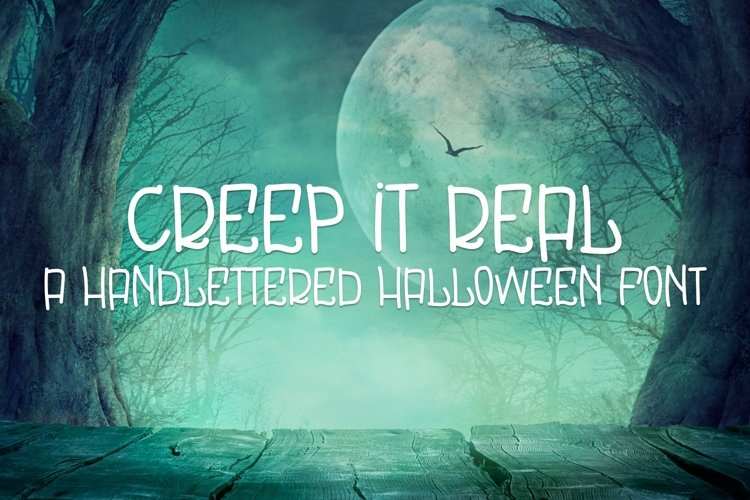 Web Font Creep It Real - A Handlettered Halloween Font example image 1