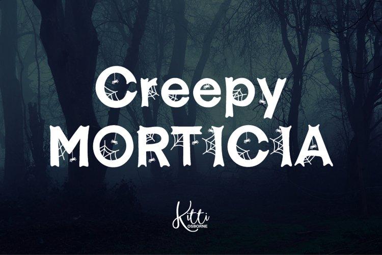Creepy Morticia Web Font example image 1