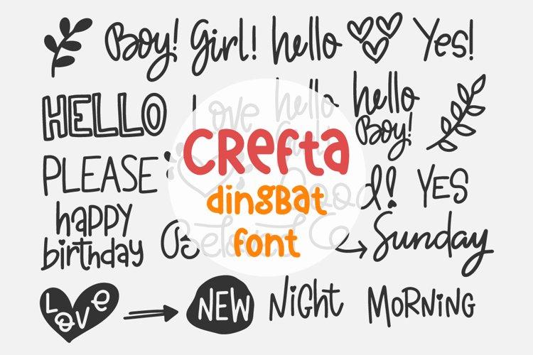 Crefta - a Dingbat font example image 1