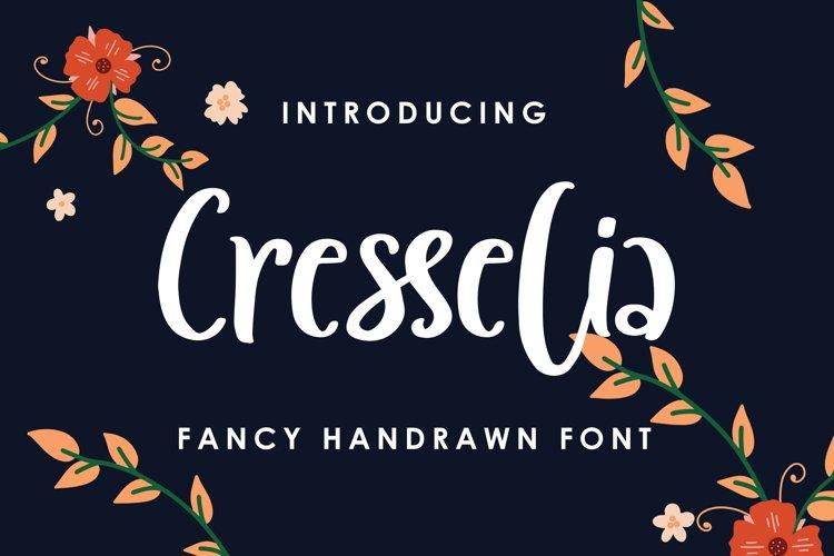 Cresselia - Fancy Handrawn Font example image 1