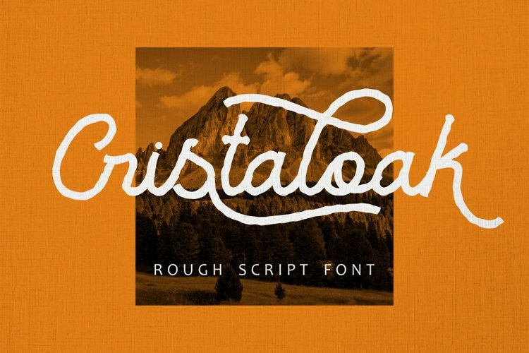 Cristaloak - Rough Script Font example image 1