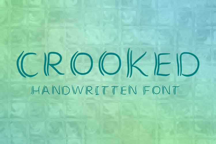 curved handlettered simple quirky font for craft projects