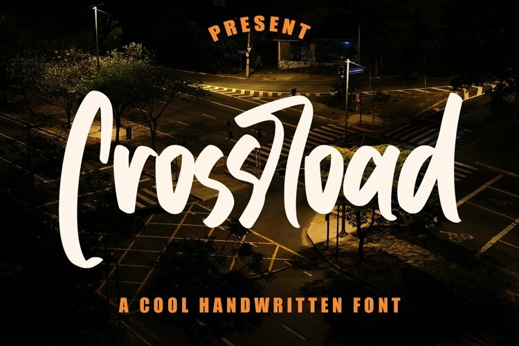 Web Font Crossroad - Cool Handwritten Font example image 1
