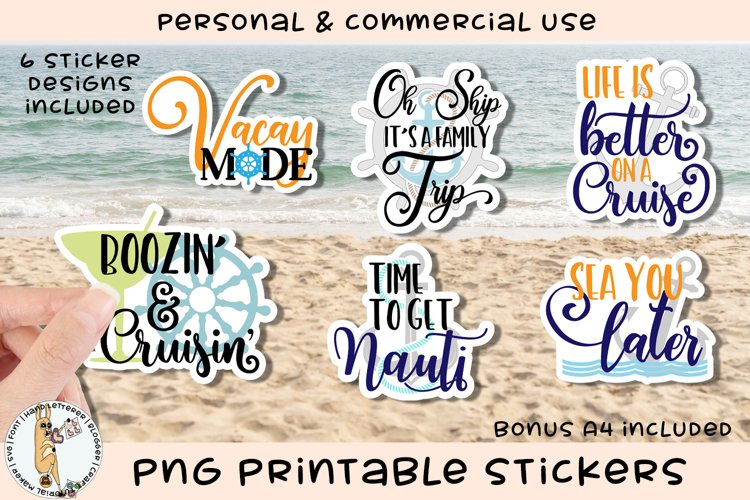 Cruise Trip Summer Printable Stickers