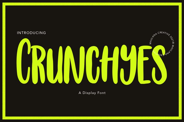 Crunchyes Display Font example image 1