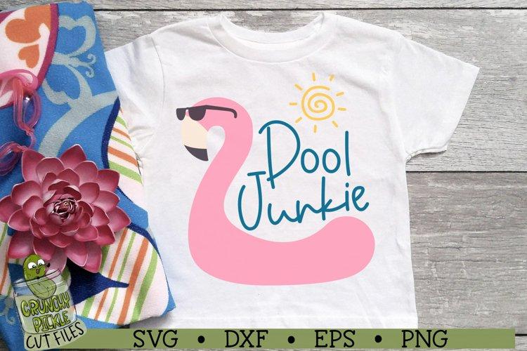 Pool Junkie Flamingo SVG File