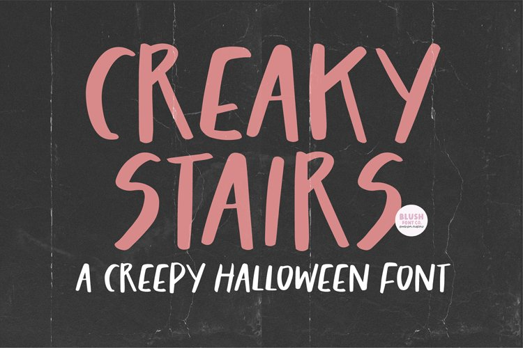 CREAKY STAIRS Scary Halloween Font example image 1