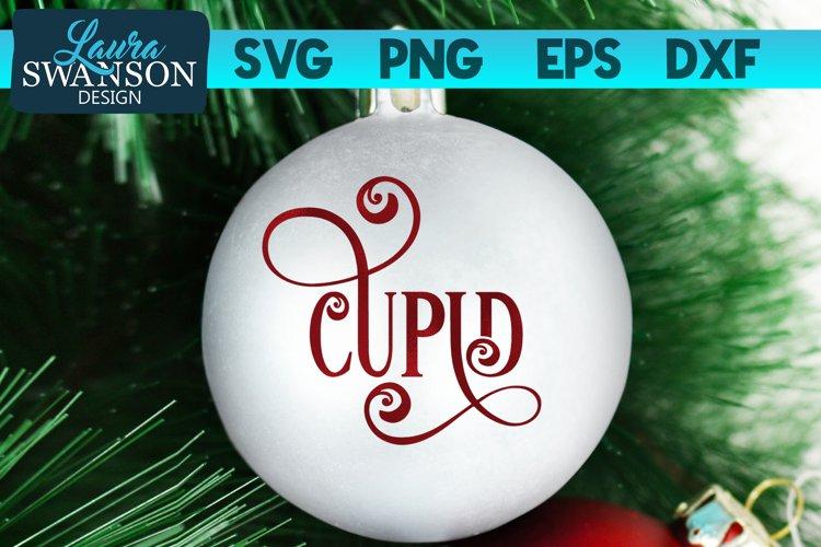 Reindeer Cupid SVG Cut File | Christmas Ornament SVG example image 1