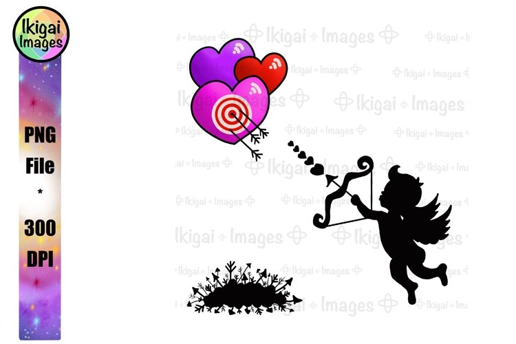 Cupid Clipart, Valentines Day Sublimation Designs, PNG Files