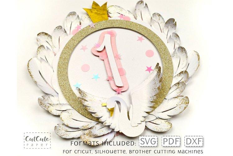 Swan Princess Birthday Cake Topper / Centerpiece