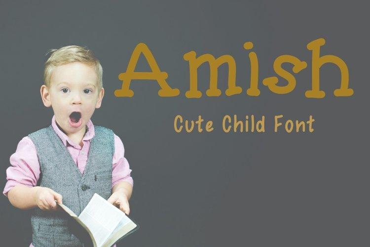 Cute Child Handwritten Font - Amish